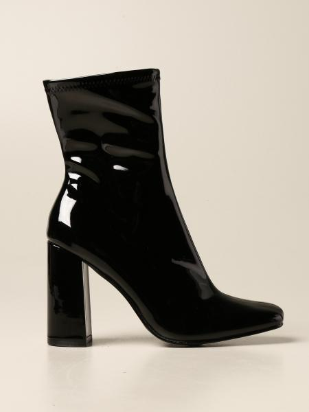 Steve Madden: Fulton Steve Madden ankle boot in synthetic patent leather