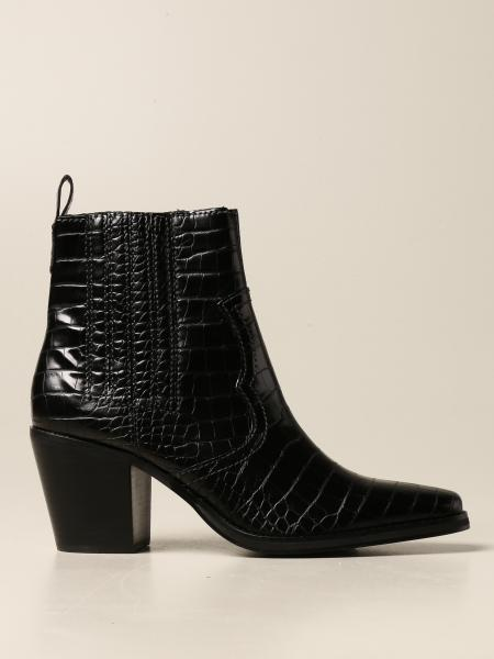 Steve Madden: Geniva Steve Madden ankle boot in synthetic leather with crocodile print
