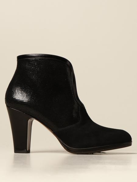 Cesna Chie Mihara ankle boot in suede and leather with reptile print