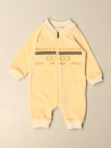 Gucci kids: Gucci suit with vintage logo