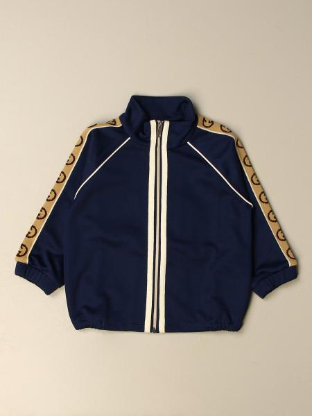Gucci kids: Gucci sweatshirt with logoed bands