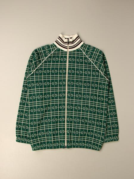 Gucci kids: Gucci cardigan with all over logo