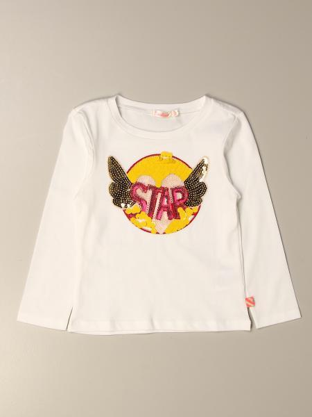 Billieblush T-shirt with star writing and rhinestone wings