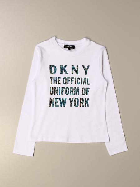 T-shirt Dkny con scritta multicolor