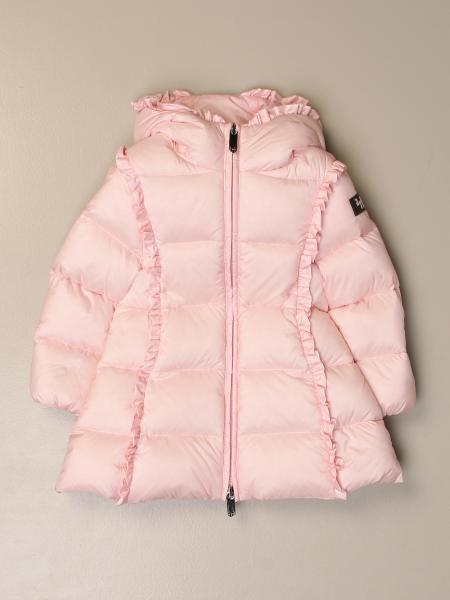 Il Gufo down jacket with hood and rouches