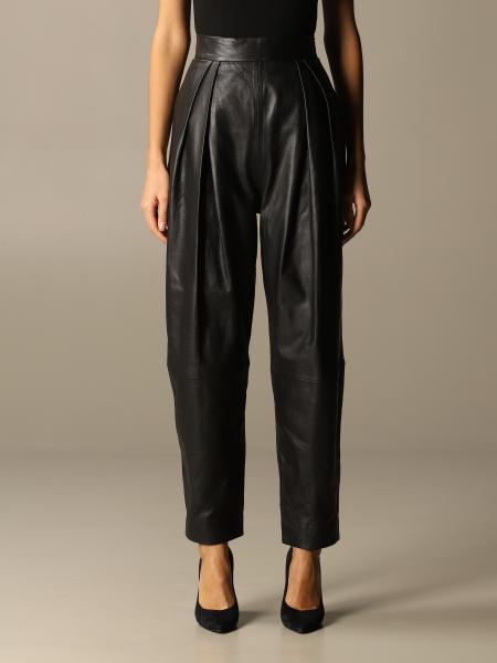 Alberta Ferretti women: Alberta Ferretti leather trousers