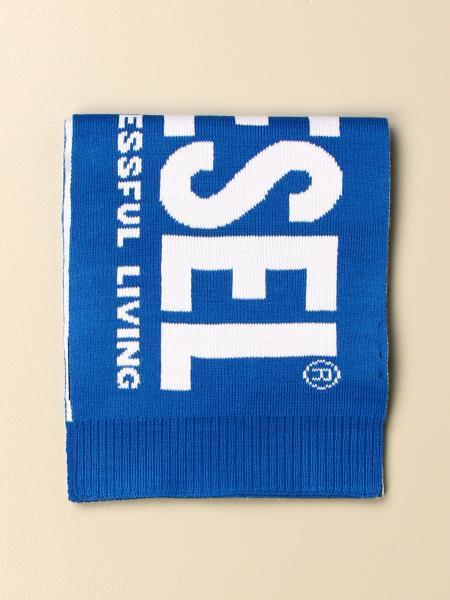 Diesel scarf with big logo in jacquard
