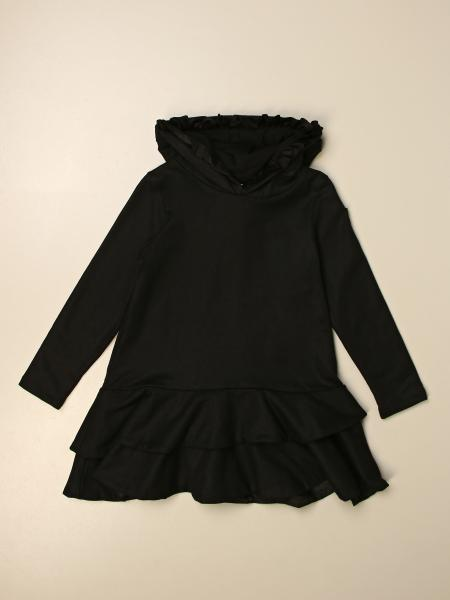 Moncler hooded dress with flounces on the bottom