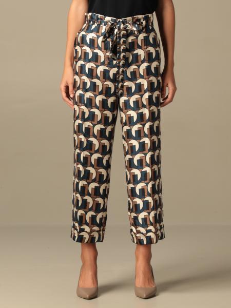 Max Mara women: Max Mara wide trousers with geometric pattern