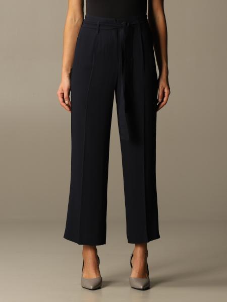 Max Mara women: Max Mara wide trousers with belt