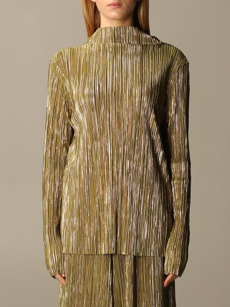 Maliparmi: Top Maliparmi in tessuto plissettato