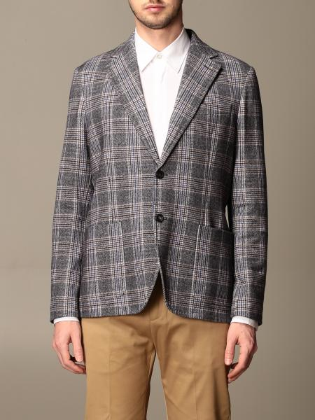 Circolo 1901: Circolo 1901 single-breasted blazer in check cotton