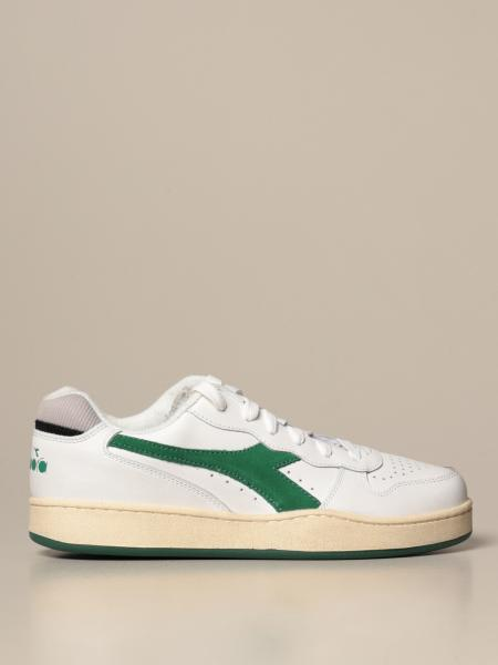 Mi basket low used sneakers in pelle con effetto vintage