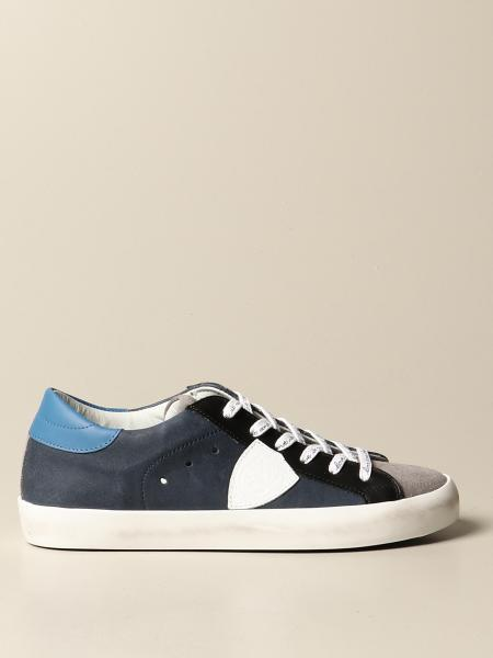 Philippe Model: Paris Philippe Model sneakers in leather and suede