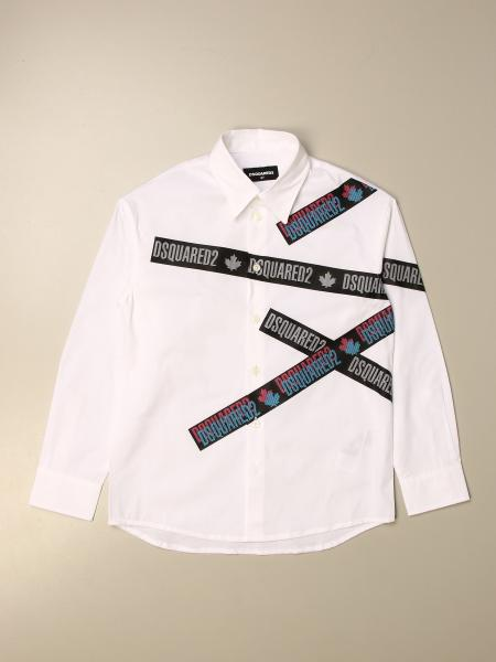 Dsquared2 Junior shirt with logoed bands