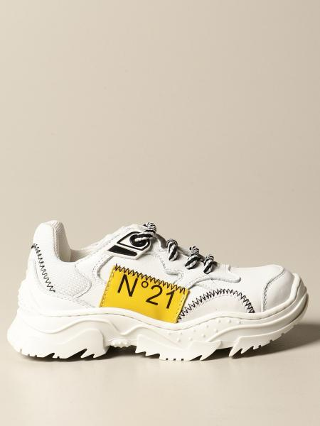 N° 21: N ° 21 sneakers in leather with logo