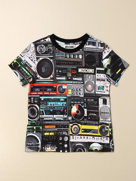 Moschino kids: Moschino Kid T-shirt with all over radio print