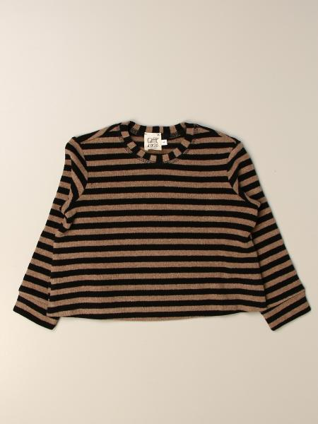 Caffe' D'orzo: Caffe 'D'orzo sweater in striped cotton blend