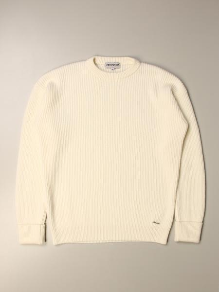 Simonetta: Simonetta crewneck sweater in ribbed cashmere