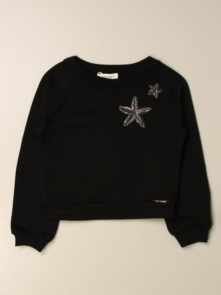 Twinset kids: Twin-set cotton sweatshirt with jewel stars
