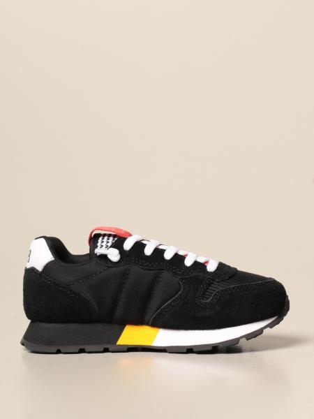 Sneakers Sun 68 in camoscio e tela con logo