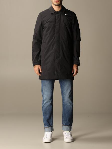 K-Way men: K-way nylon trench coat with logo