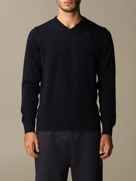 K-Way men: K-way v-neck sweater with mini logo