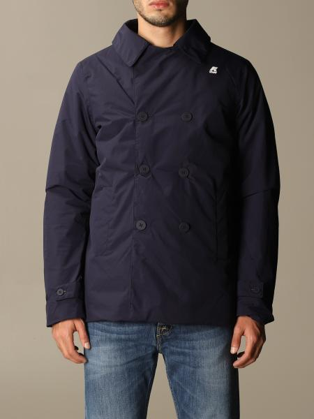 K-Way men: Double-breasted K-way jacket in nylon