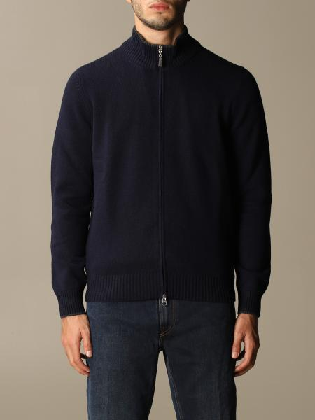 Gran Sasso: Gran Sasso wool cardigan with patches