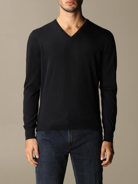 Gran Sasso: Gran Sasso v-neck sweater in wool and silk