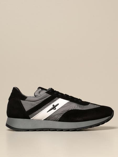 Paciotti 4Us men: Paciotti 4US sneakers in suede and nylon