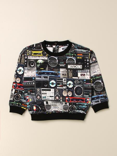 Moschino kids: Moschino Baby crewneck sweatshirt with all over radio print