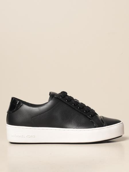 Michael Kors women: Michael Michael Kors leather sneakers with MK logo