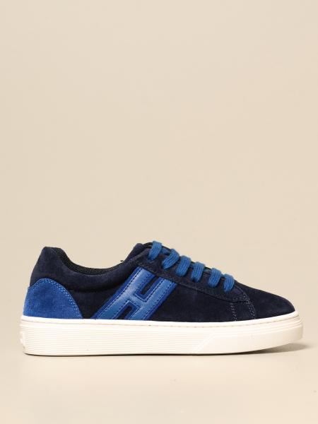 Hogan sneakers in leather and suede with elongated H