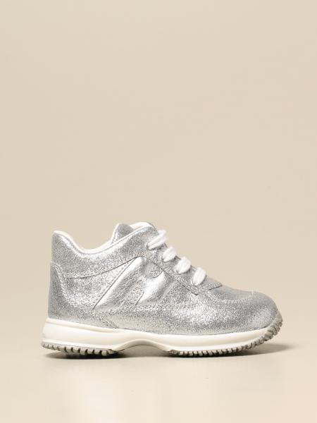 Interactive Hogan sneakers in lurex leather with rounded H
