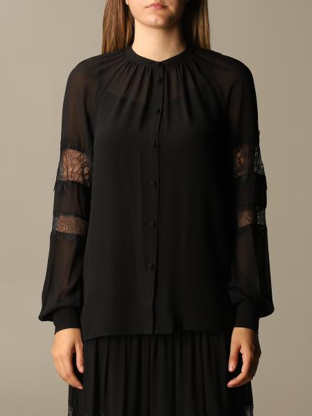 Michael Kors women: Michael Michael Kors crewneck shirt with lace details