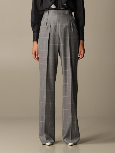 Max Mara women: Max Mara checked trousers
