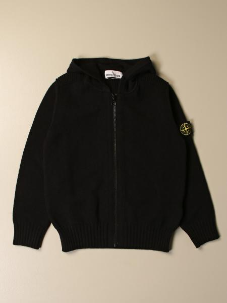 Stone Island Junior bambino: Felpa Stone Island Junior basic con zip