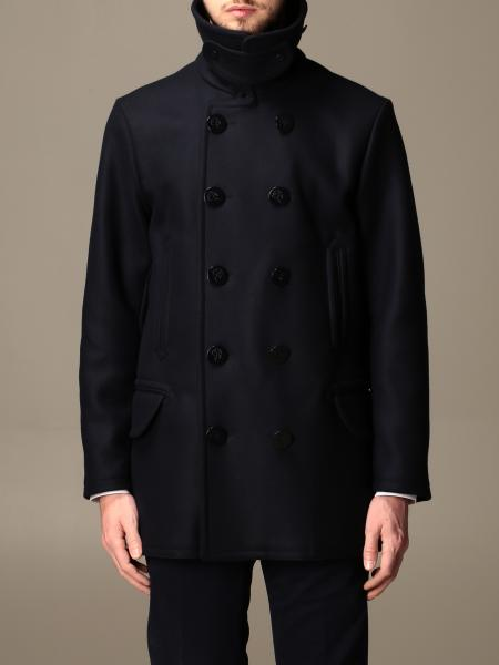 Fay double-breasted wool coat