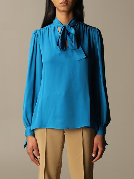 Michael Kors women: Michael Michael Kors blouse with sash collar