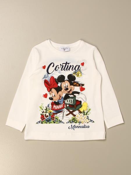 Monnalisa T-shirt with Cortina print