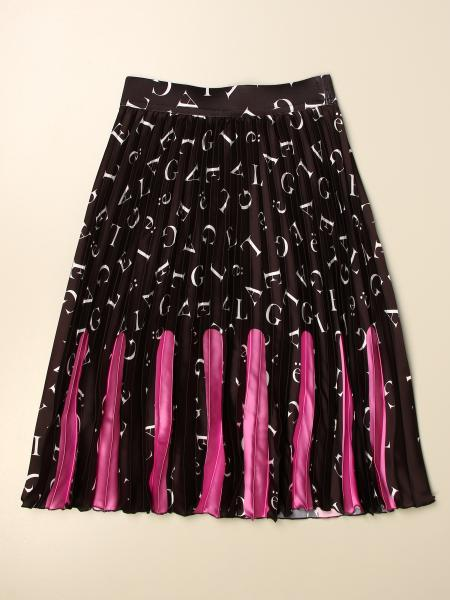 Gaelle Bonheur: GaËlle Paris wide skirt with all over logo