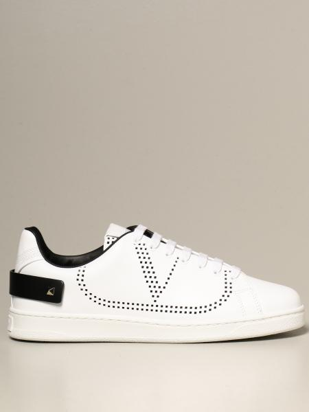 Valentino Garavani: Valentino Garavani leather Backnet sneakers