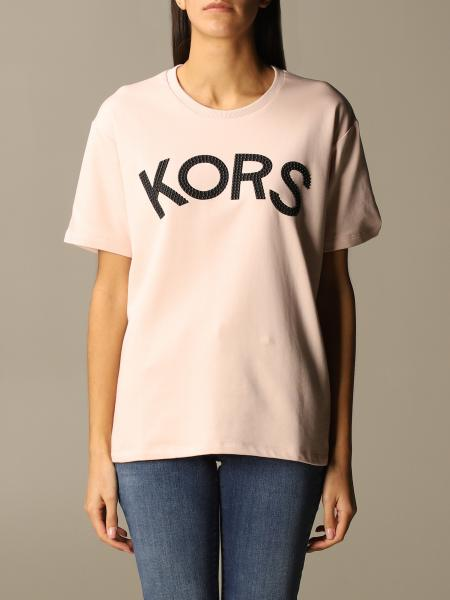 Michael Kors women: Michael Michael Kors crewneck T-shirt with micro applications logo