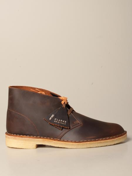 Clarks desert boot in vintage effect leather