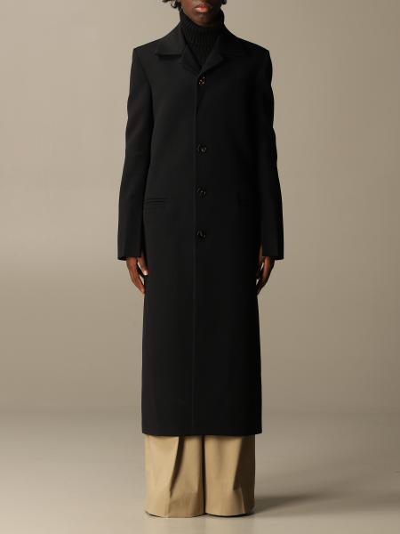 Long single-breasted Bottega Veneta coat