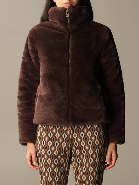 Maliparmi: Giacca reversibile Maliparmi in nylon e pelliccia