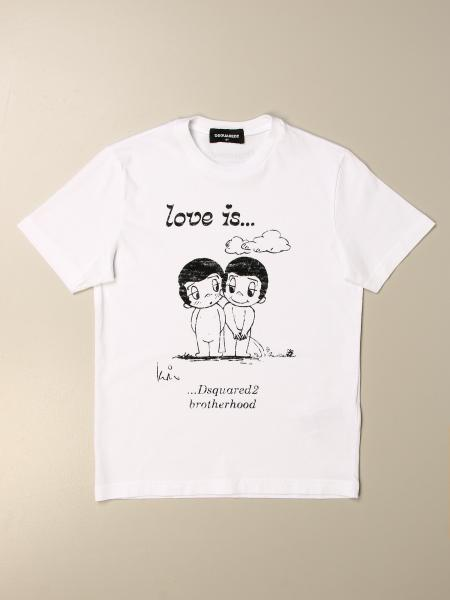 T-shirt Dsquared2 Junior con stampa love is