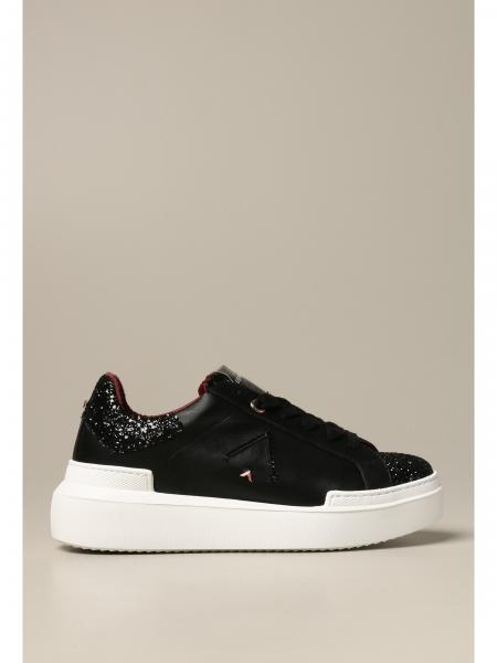 Sneakers Ed Parrish in pelle e glitter