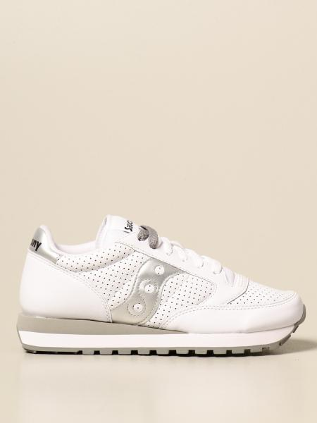 Saucony: Saucony Jazz sneakers in smooth and perforated leather